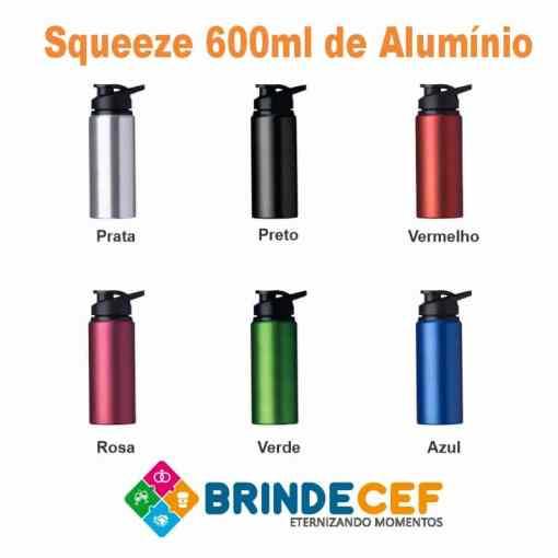 Squeeze 600ml Alumínio Personalizado