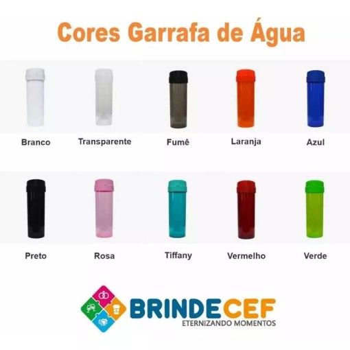 Garrafa de Água 475ml Personalizada para Brindes