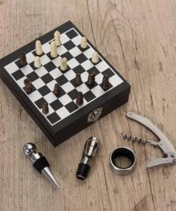 Kit Vinho Xadrez 4 peças Personalizados 2