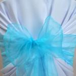 Noeud de chaiseen Organza Bleu Turquoise