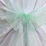 Noeud de chaise vert eau en organza