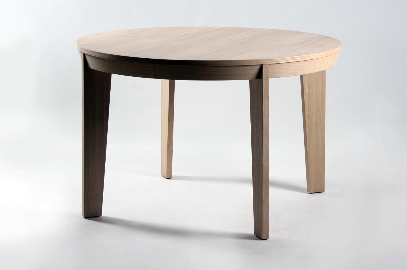 table ronde en bois avec rallonge