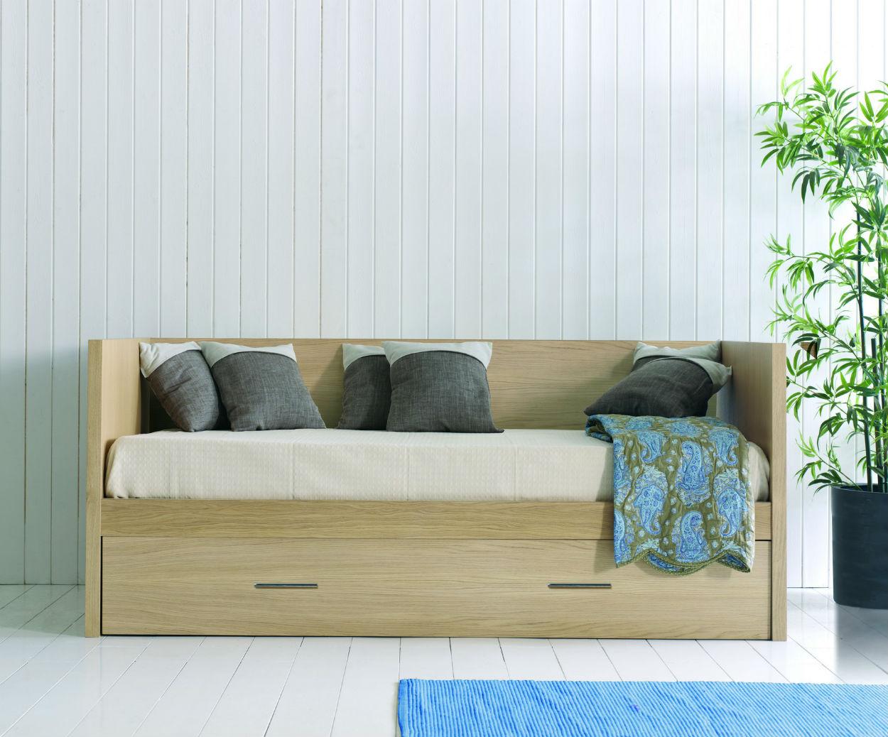 canape lit gigogne en bois