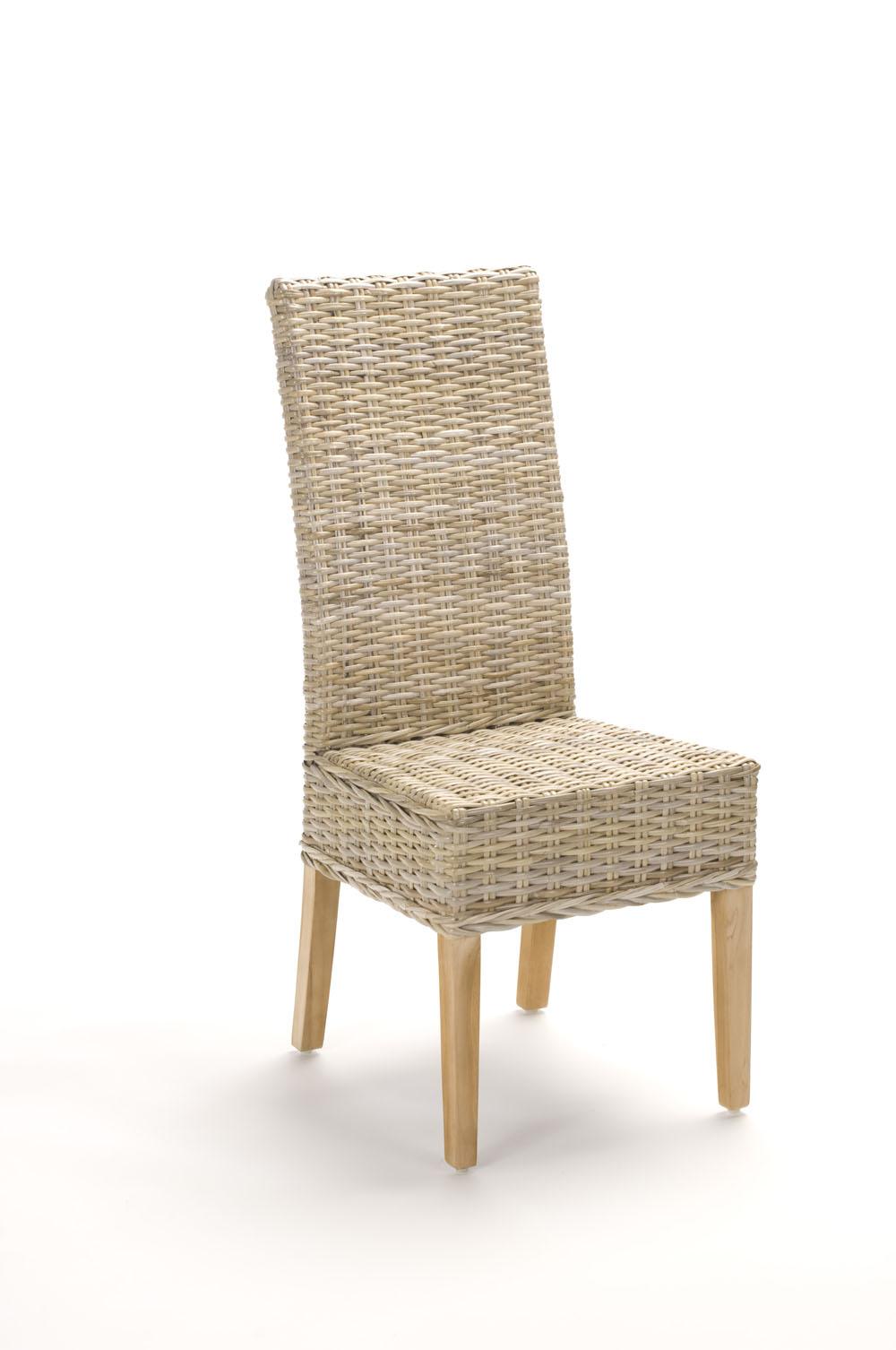 chaise en rotin gris tresse kubu brin d ouest