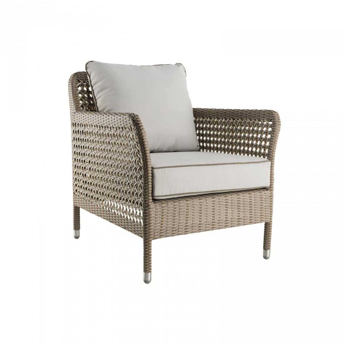 fauteuil de salon de jardin en resine tressee