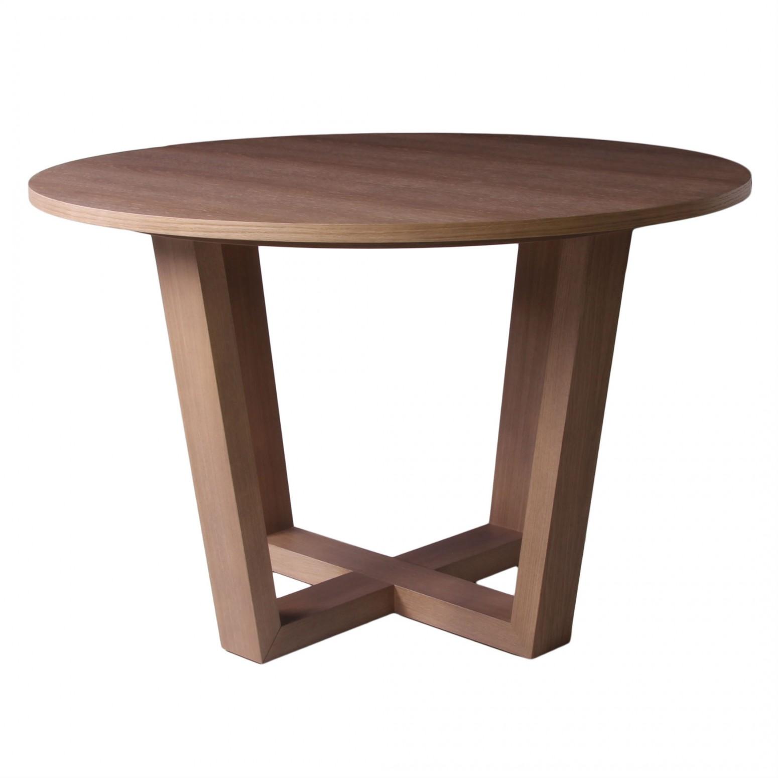 table de salle a manger ronde pieds croises