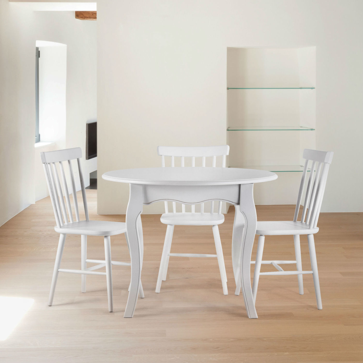 table ronde extensible bois massif