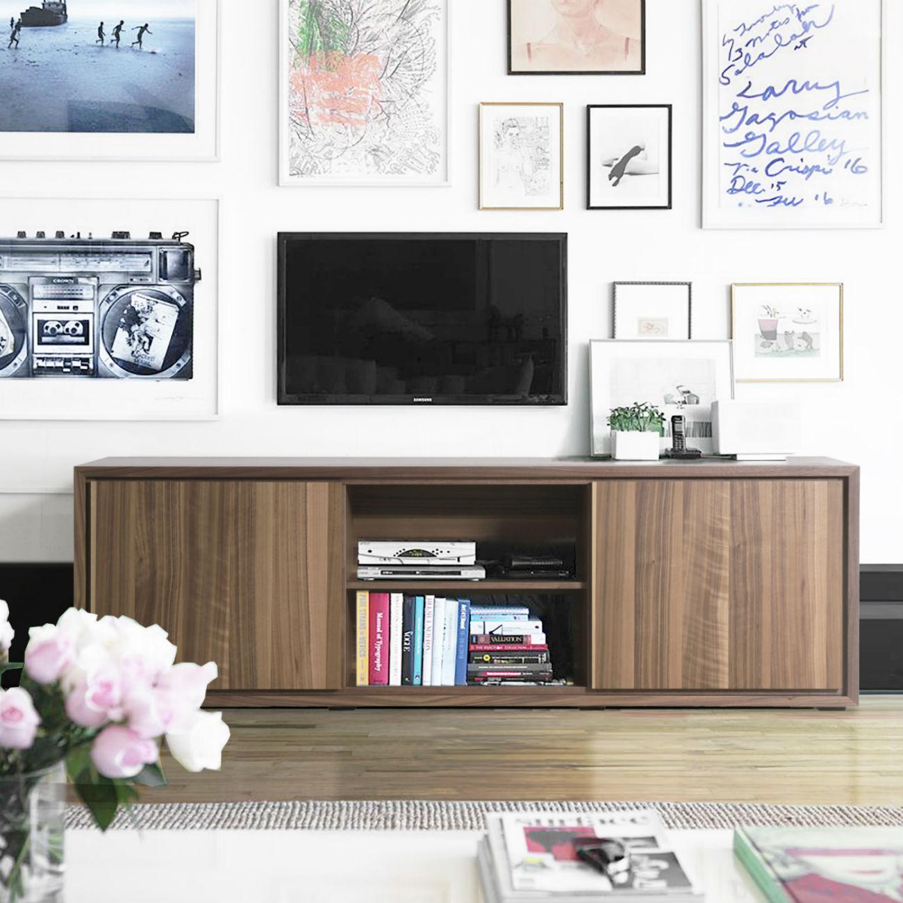 meuble tv design noyer