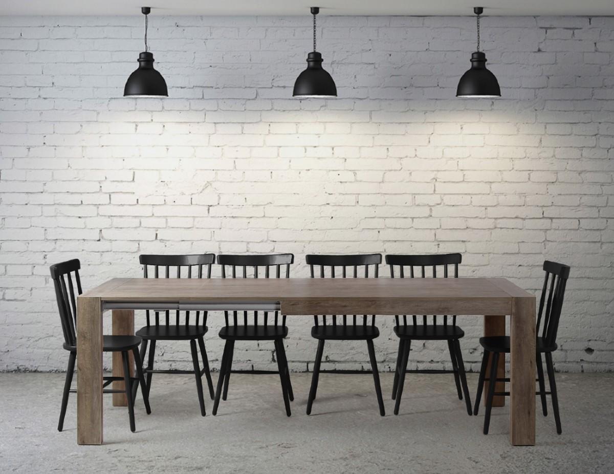 table de salle a manger avec rallonge integree