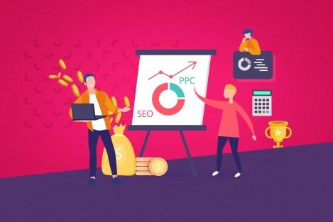 Ilustracao-de-profissionais-apresentando-orçamento-de-marketing