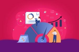 Ilustração representando benchmark online