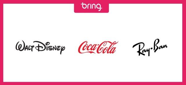 Exemplos logotipos em forma de assinatura