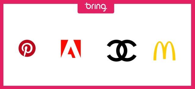 Exemplos de logotipos com iniciais