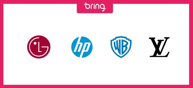 Exemplos de logotipos em forma de monograma