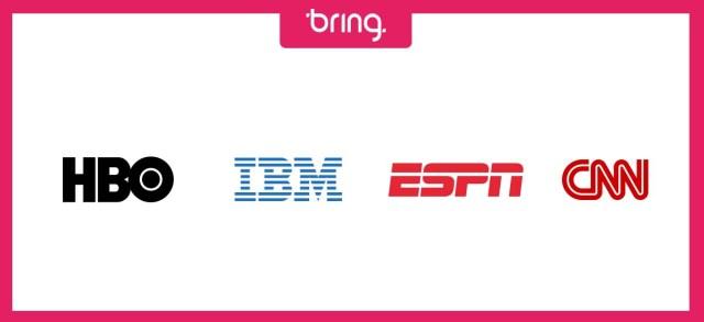 Exemplos de marcas formadas com siglas