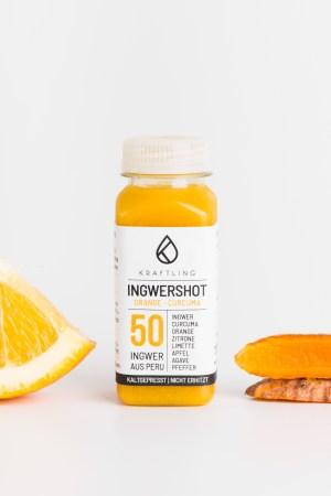 Ingwershot Orange Curcuma Kraftling Produktbild 2