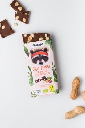 Proteinschokolade Salty Peanut Racoon Produktbild 2