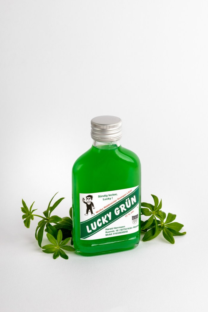 Wodka Waldmeisterlikör Lucky Grün 0,2 Produktbild 1