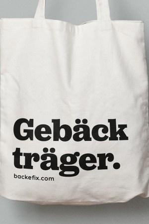 Baumwolltasche Gebäckträger Backefix Produktbild 2