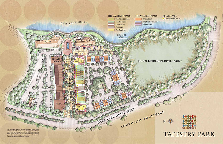 Tapestry Park townhomes in Jacksonville Florida