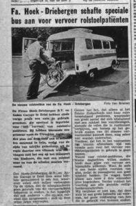 Aanschaf Mercedes bus voor Rolstoelvervoer