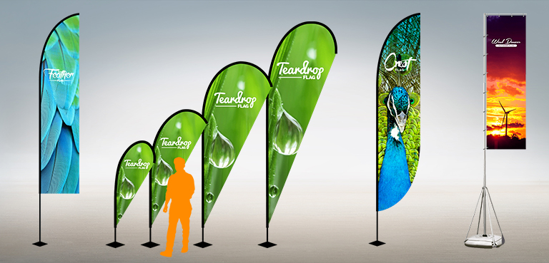 Custom Printed Fabric Flags for Outdoor Use