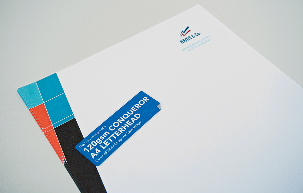 Custom Printed Business Letterhead 120gsm
