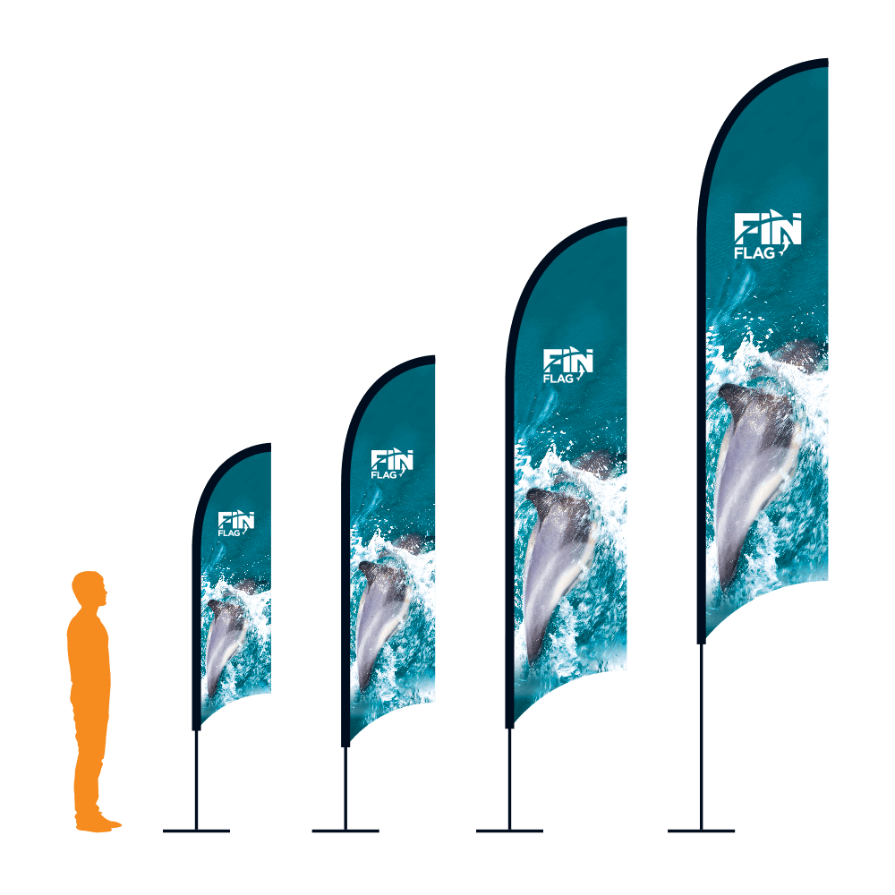 Custom Printed Fabric Fin Flags for Outdoor Use