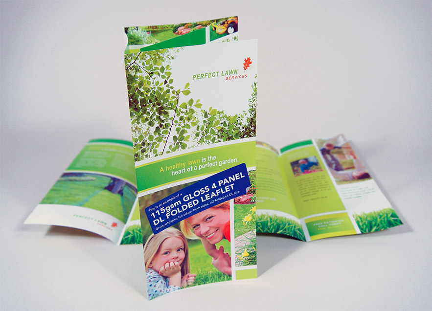 4 Panel Folded Leaflet Printing