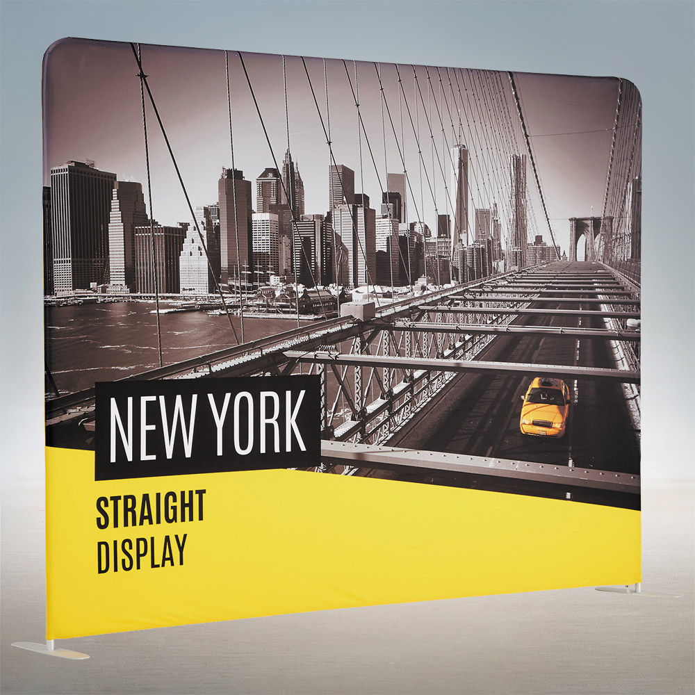 Straight Wall Fabric Trade Show Pop Up Display Stand