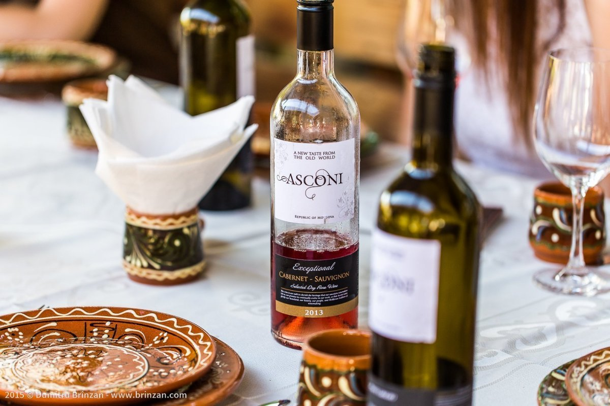 Asconi Winery in Puhoi Village, Moldova - Bottle of Rose