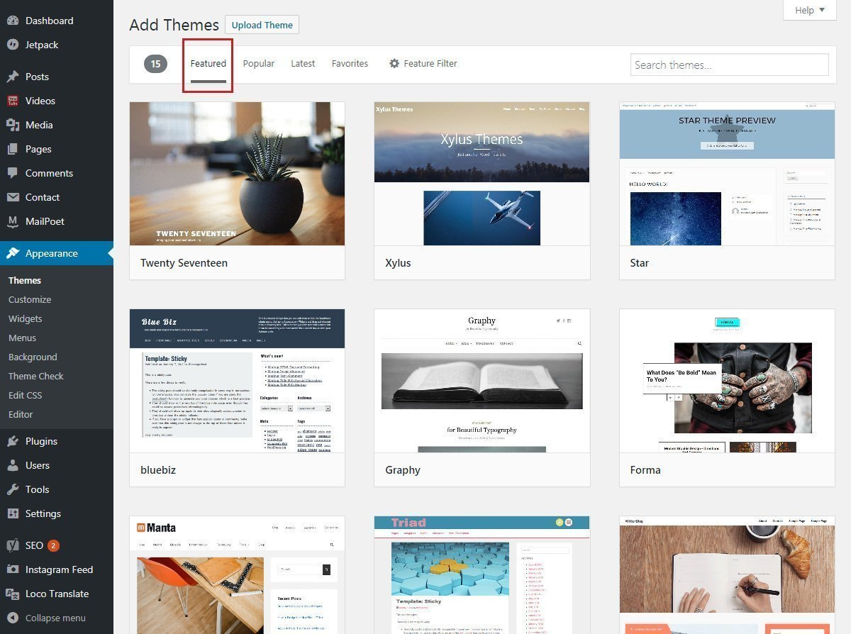 WordPress Themes Repository - Featured Themes Page