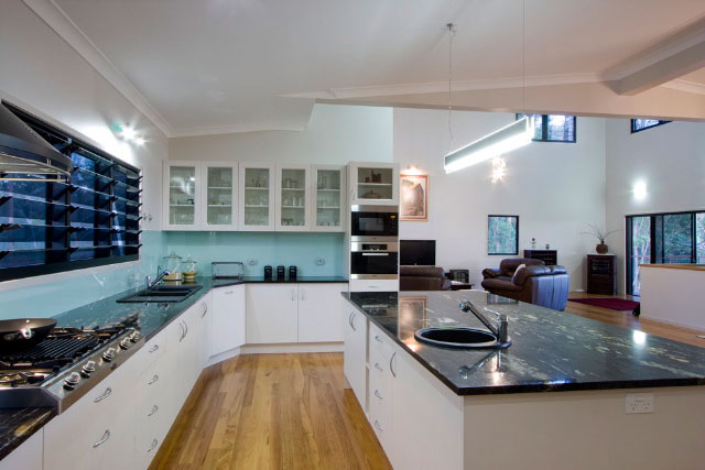 stone kitchen island funnels project 12 - granite brisbane and marble