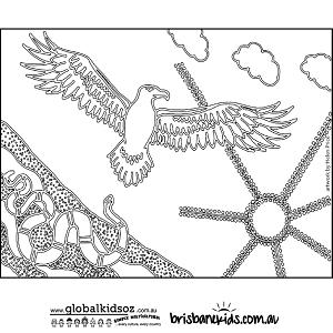 Aboriginal Colouring Pages • Brisbane Kids