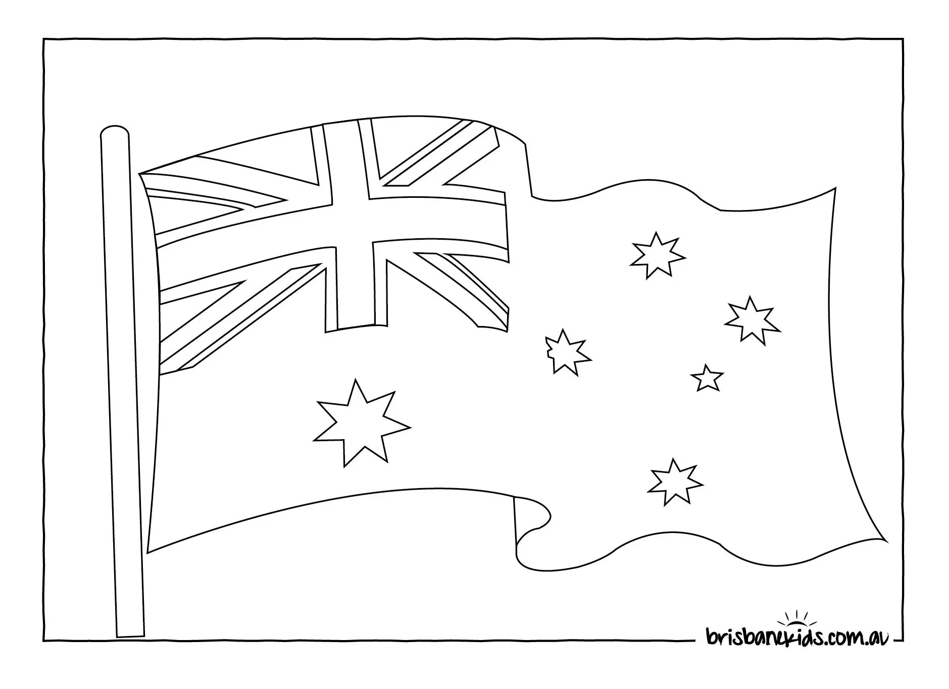 Australia Day Colouring Pages • Brisbane Kids