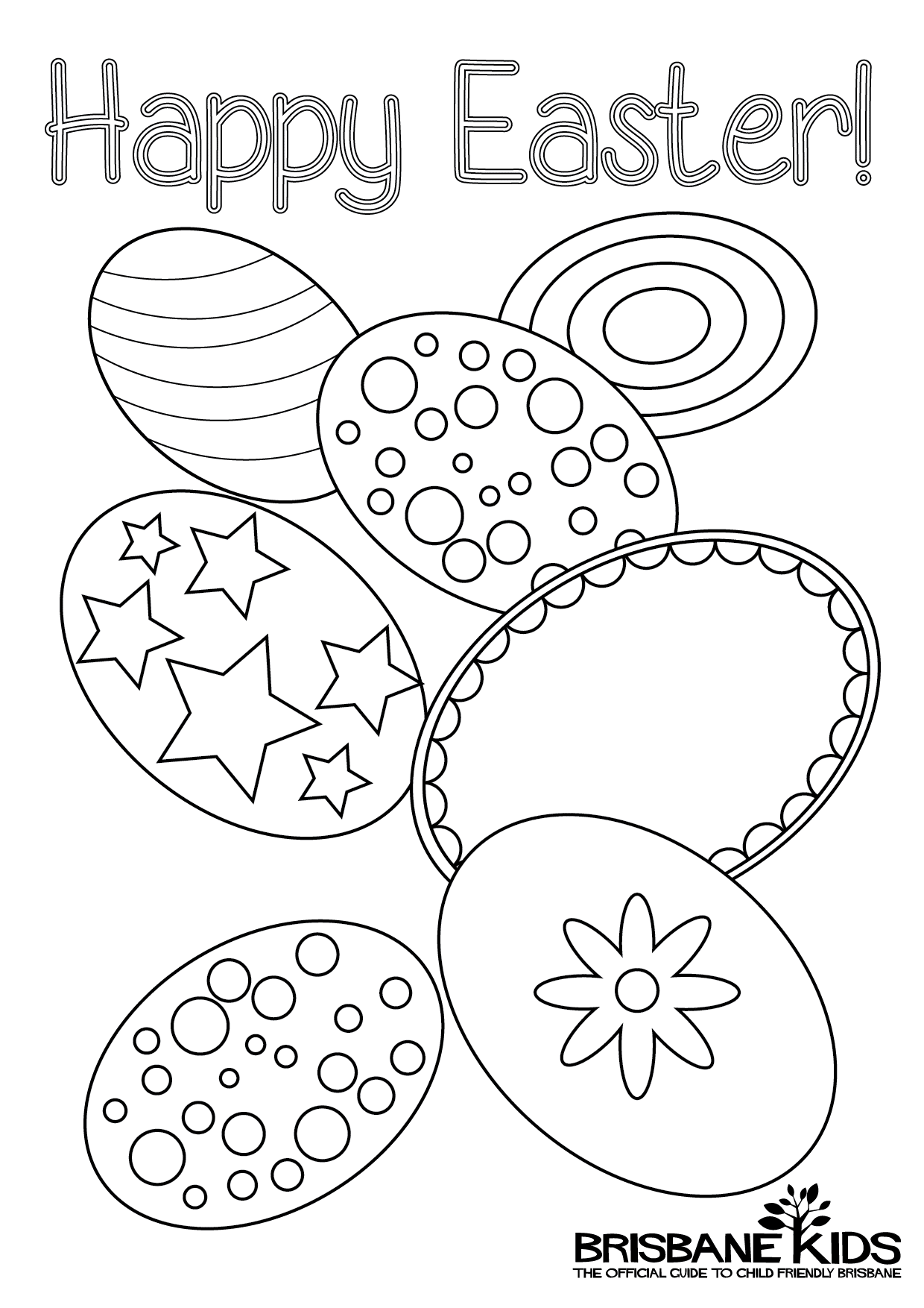 Easter Colouring Pages • Brisbane Kids