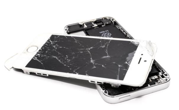 Broken Screen White iPhone
