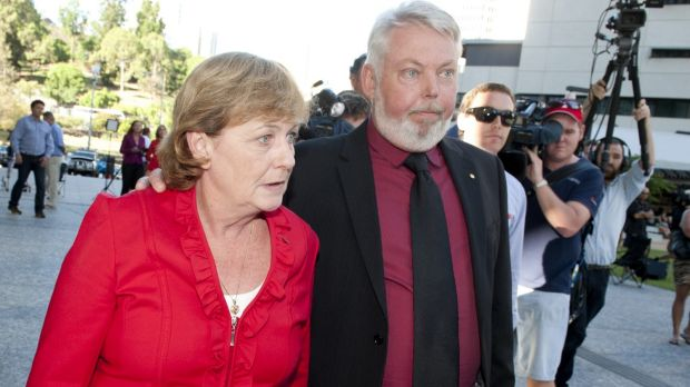 """Denise Morcombe, with husband Bruce, is """"disgusted"""" with the fighting."""