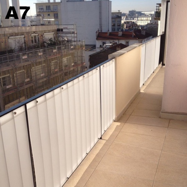 brise vues plexiglas pare vent brise vent plexi balcon terrasse