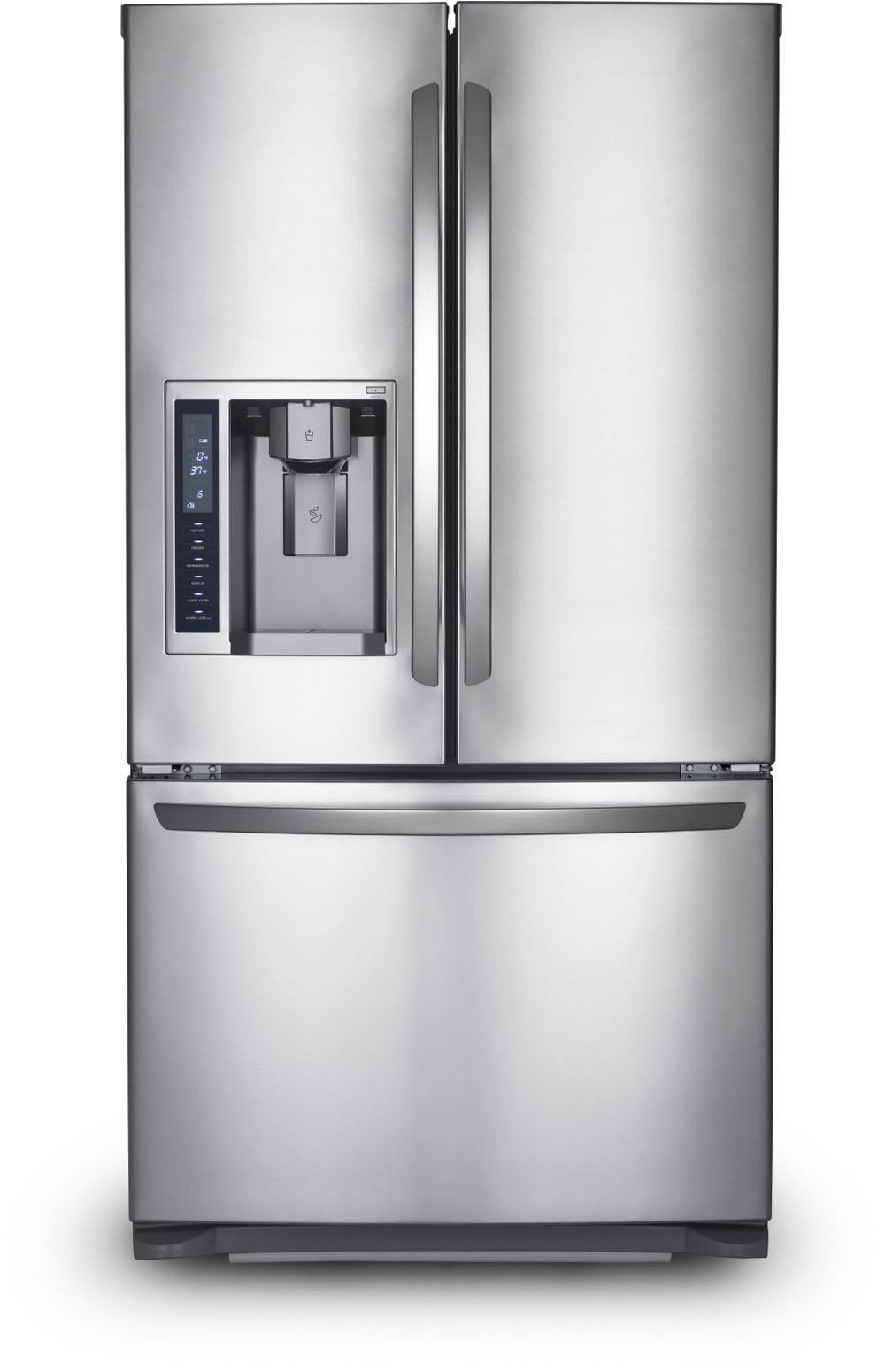 large kitchen appliances sink stopper brisk living stainless steel fridge