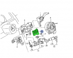 Skoda Octavia mk2 steering angle sensor 1K0953549