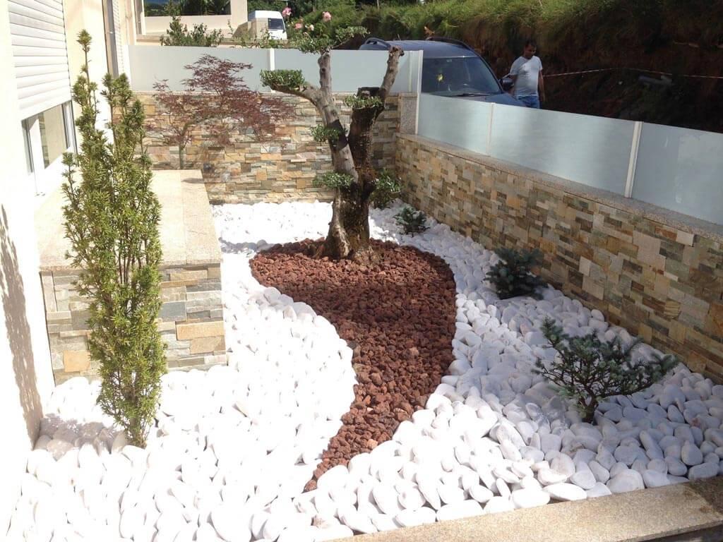 Exemplos decorativos para jardim