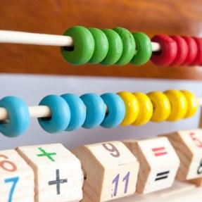 maths abacus close up