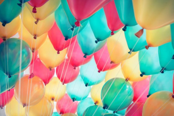 balloons pastel background abstract