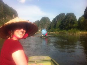 Loving life on the Tam Coc river in Vietnam