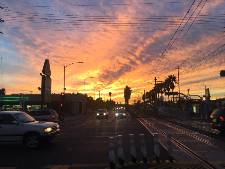 The sunset in LA was unreal!
