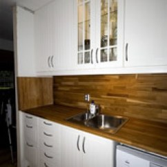 B&q Kitchens Small Kitchen Pantry Cabinet Bristol B Q Fitted With White Cabinets And Dark Work Surface