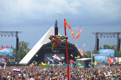 The Pyramid Stage at the Glastonbury Festival