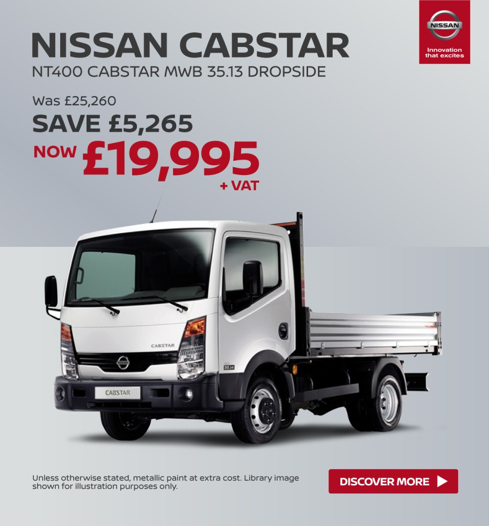 medium resolution of  nissan nt400 cabstar nissan cabstar mwb dropside banner 1
