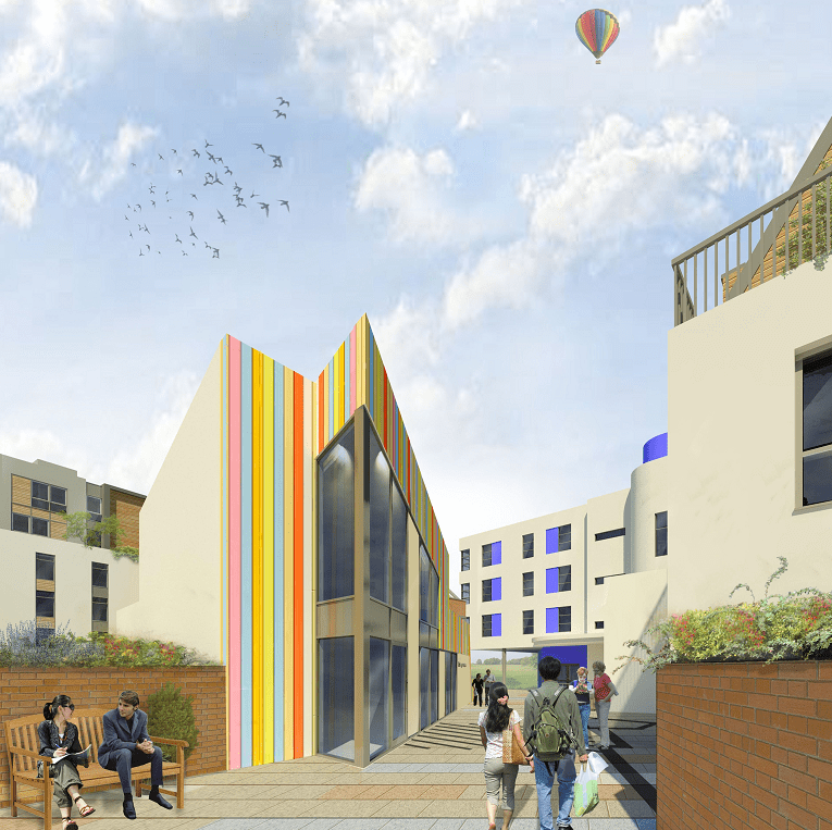 Artist's impression of how Paintworks could look